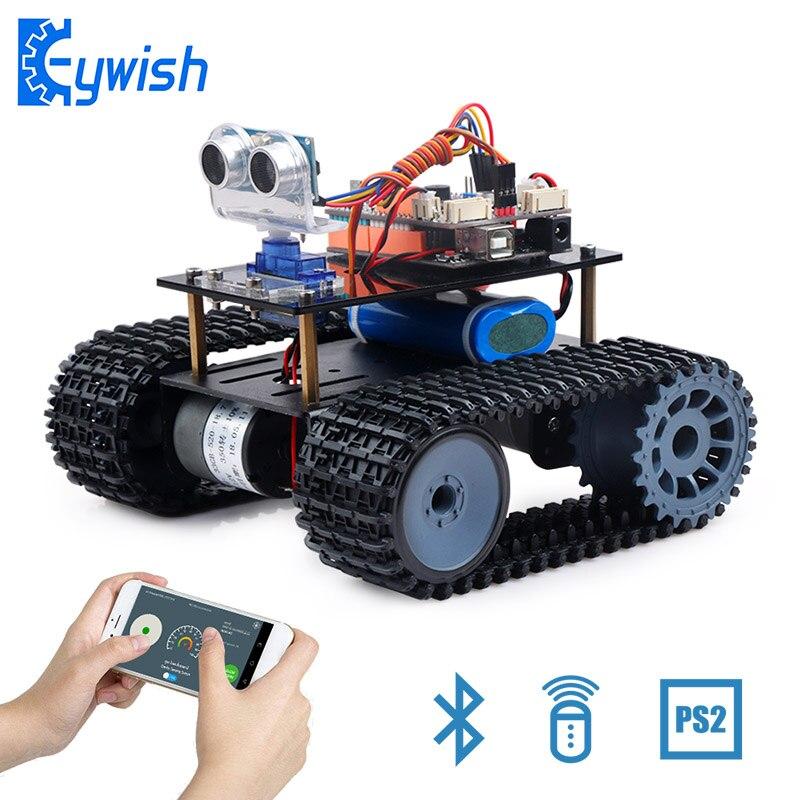 Réservoir Robot pour Arduino UNO R3 Smart Voitures Kit APP RC Télécommande À Ultrasons Capteur Bluetooth Module Tige Jouets pour enfants Kid