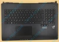 Portuguese PO palmrest Keyboard for ASUS G750 G750JH G750JM G750JS G750JW G750JX G750JZ with backlight top case BLACK FLAG