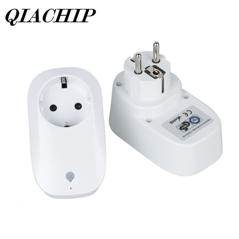 QIACHIP 2/Pcs AC 100-250V WiFi Smart Plug Mini Home Socket Work with Amazon Alexa Google Home Schedule Function App Remote DS35 wifi smart socket plug schedule function app remote control electronics energy saving for smartphone tablet ac 100 250v eu plug