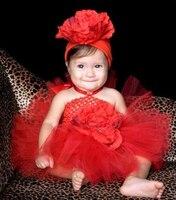 Customized NewBorn Baby Toddler Stretch Crochet Tube Top Saia Tutu Tulle Skirt Pettiskirt And Headband Set