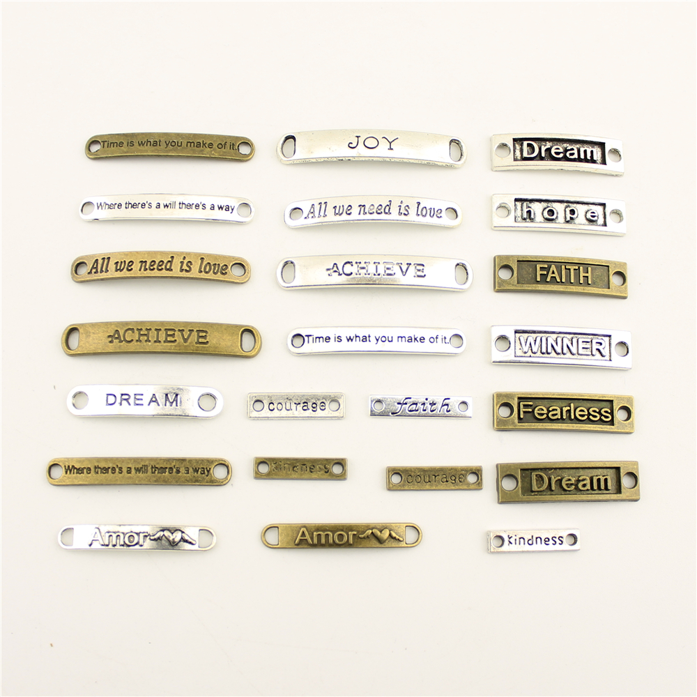 Charm Women Backless Dress Text Tag Strip Connector Supplies For Jewelry Materials Hand Made Charms in Charms from Jewelry Accessories
