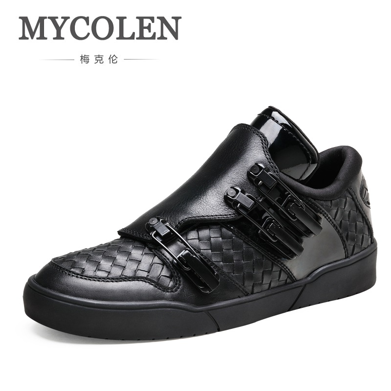 MYCOLEN Spring Summer Casual Shoes For Men Fashion Sneakers Outdoors Genuine Leather Tourism Men Shoes Chaussure Homme Cuir mcintosh tourism – principles practices philosophies 5ed