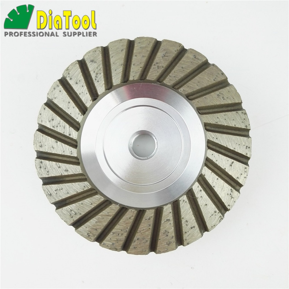DIATOOL 4inch Grit 30 Aluminum Based Diamond Grinding Cup Wheel with M14 Thread Grinding Wheel For Granite Concrete free shipping coarse medium fine grit 4 inch diamond turbo cup wheels m14 thread for grinding concrete and stone 3pcs set