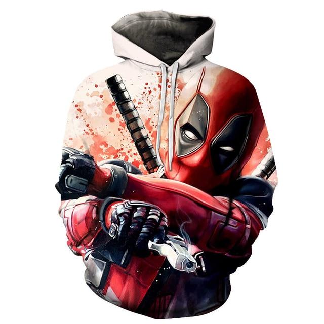 deadpool 2019 hoodie costume hood fashion plus size hoddie top for men women/male Men's Sweatshirts Hip Hop Sportswear 4