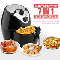 1300W Multifunctional 360 Degrees Hot Air Circulation Fryer Machine Deep Smokeless Non stick Fryer Oven Cooker EU Plug