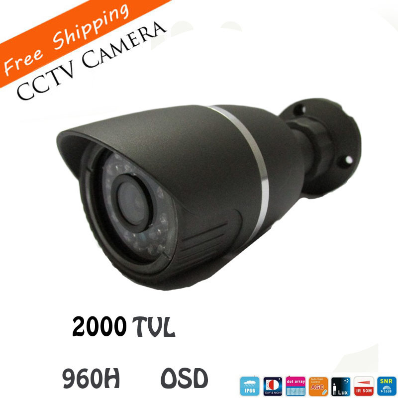 HD sony CCD 960H Effio-e 2000TVL CCTV Video Surveillance Bullet Outdoor IR Night Security Camera 36leds with OSD Menu bullet camera tube camera headset holder with varied size in diameter