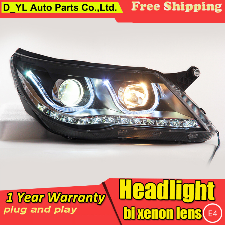 Car Styling LED Head Lamp for VW Tiguan headlights 2010 2012 VW Tiguan led headlight led