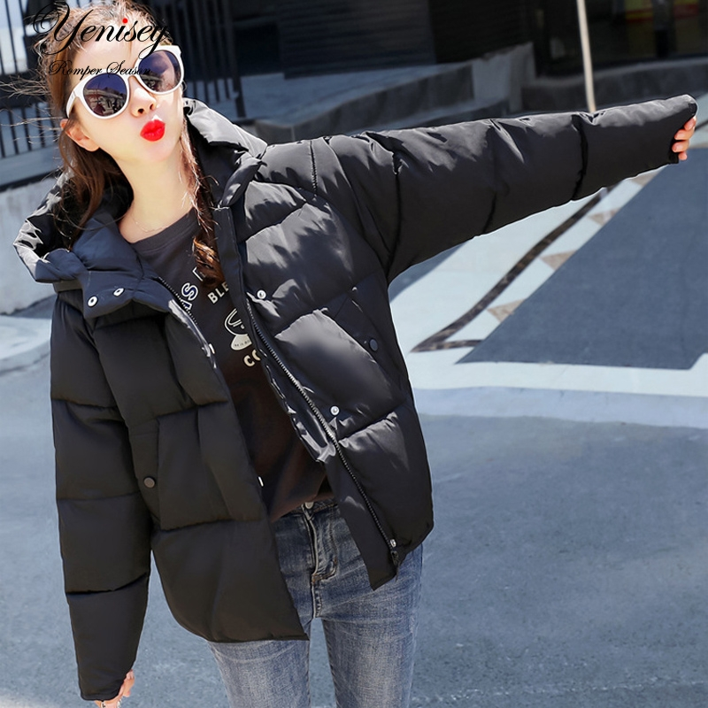 2018 Slim Cotton Solid New Womens Hooded Winter Loose Cotton padded Jacket Winter Jacket Women 902-in Parkas from Womens Clothing on Aliexpresscom  Alibaba Group