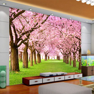 Customized wallpaper Cheap wallpaper modern garden living room sofa bedroom TV background 3D stereoscopic large mural peach tree vintage beautiful mahogany living room large mural wallpaper living room bedroom wallpaper painting tv background wall wallpaper