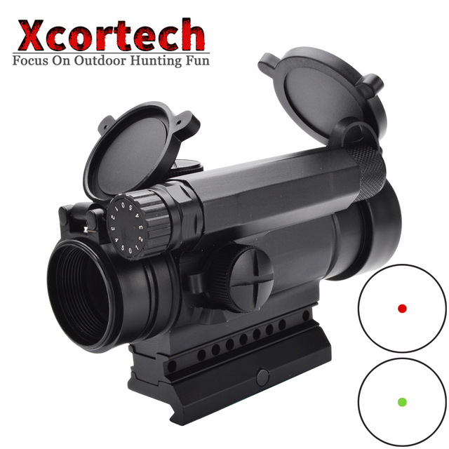 Tactical Red Dot Sight Comp M4 Riflescope Hunting Collimator Shooting Aiming Optic Sight Standard Spacer W/ Killflash Lens Cover