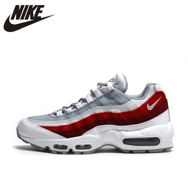 Nike Air Max 95 TT Pacote Choque Lento Tênis Branco Vermelho Para Homens E Mulheres 749766-103 40 -45