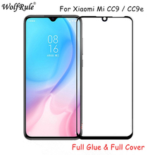 2pcs LCD Screen Protector Xiaomi Mi CC9 Full Glue Tempered Glass For CC9E Cover Phone CC9/Mi
