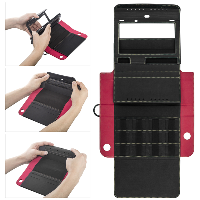 Portable Switch Case Stand For Nintend Switch Wallet Style Carrying Case PU Leather Protect Flip Travel Cover 1