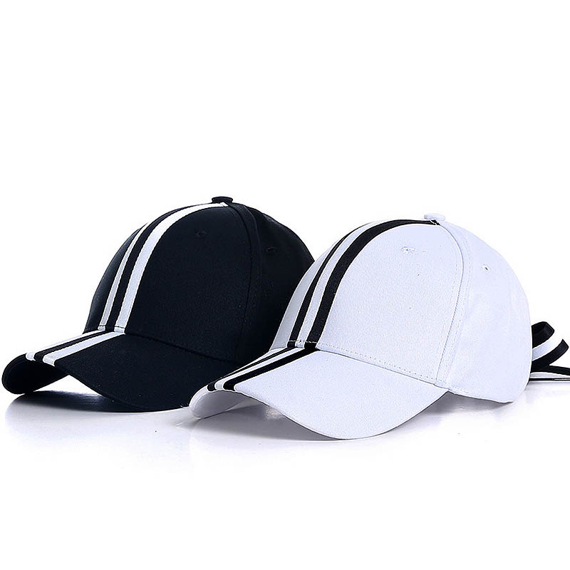 Fibonacci 2018 New Black White Stripes Baseball Cap Bow Tie Adjustable With 6 Panel Hat for Men Women Snapback Polo Cap 2016 new new embroidered hold onto your friends casquette polos baseball cap strapback black white pink for men women cap