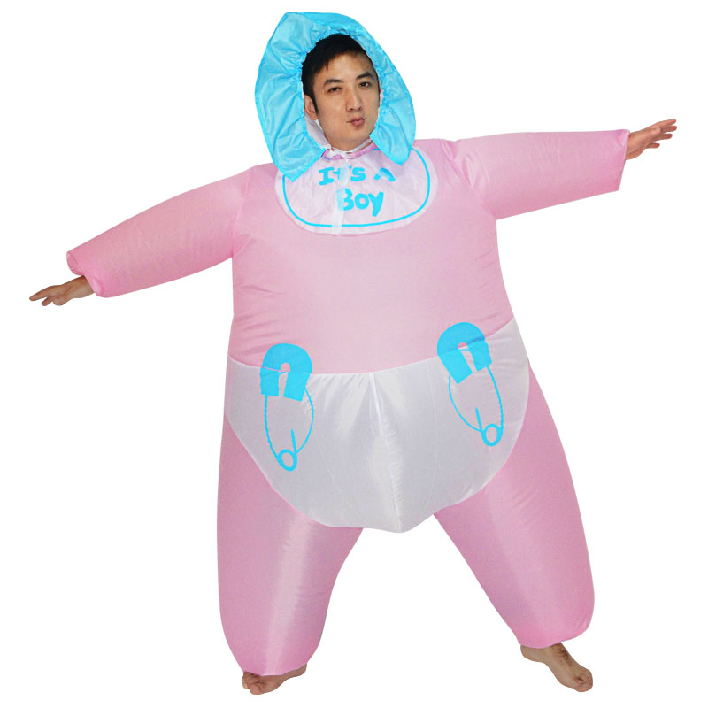 Baby Doll Costume Inflatable Costume Baby Cosplay Suit Celebrate Baby Birth Party Fancy Dress Air Blown