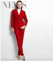 Custom White Slim Fit Bussiness Formal Elegant Women Suit Set Blazers Pants Office Suits Ladies Pants Suits Trouser Suits