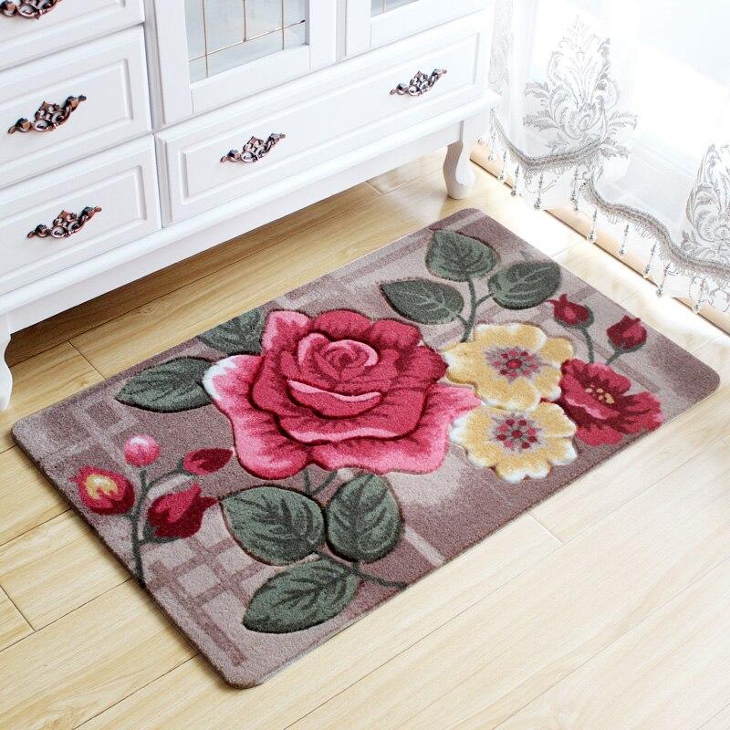 3D Flower Print Floor Mats For Home Living Room Bedroom