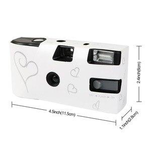 Image 5 - بسعر الجملة 5 مجموعات للاستخدام مرة واحدة كاميرا زفاف يمكن التخلص منها 36 صورة فضية قلب مضحك مع فلاش وبطاقة طاولة