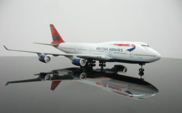 1:400 GeminiJets редкие British Airways 747 Австралия кенгуру мечта живописи G-BNLS Коллекция модель