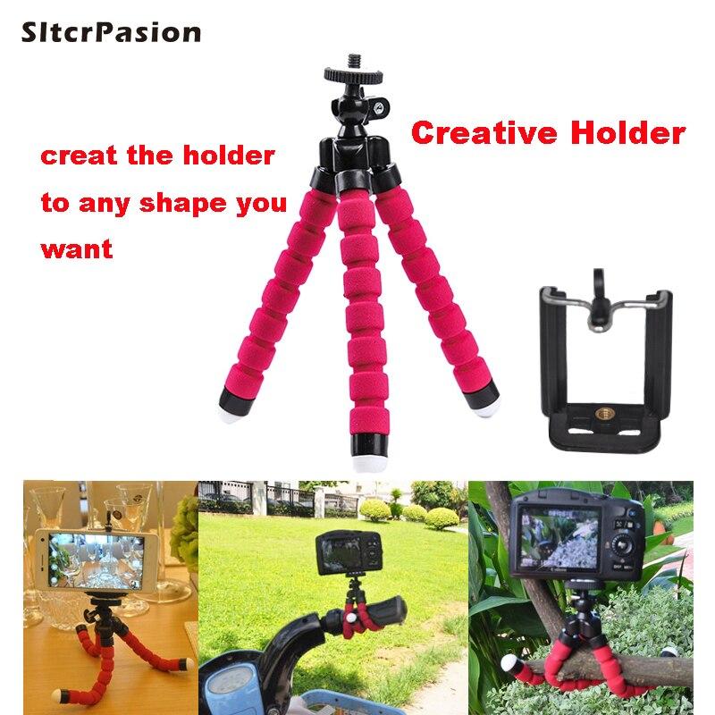 SltcrPasion Flexible Trépied pour Appareil Photo Trépied Tête Tablette Support de Téléphone portable pour iPhone 5S Bâton Tripes Para Celular Vidéo Trépied