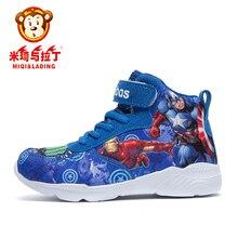 aec1ce36bf0c MIQI et CONNAISSEMENT Enfants Sport Chaussures de Course Le Avengers Garçons  Filles Mode Sneakers Lumière Poids Enfants Basket-B..