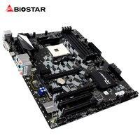 BIOSTAR B350GT5 Gaming Racing Motherboard RGB LED Für AMD ATX Ryzen 1800X 1700X DDR4 Hallo-fi 7 Phase Netzteil Desktop Computer