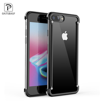 OATSBASF Airbag Metal Case For IPhone 7 Plus Case Personality Shell For IPhone 8 Plus Metal