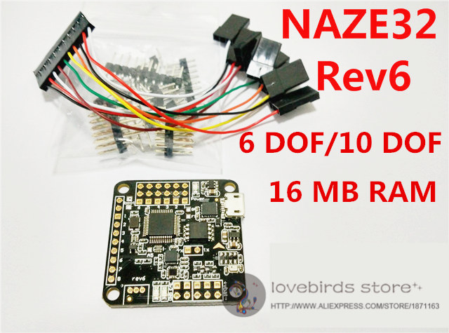 acro afro naze32 flip32+rev 6 naze32 6dof/10dof flght control 16m rev 5  upgraded for diy mini drone cross race quadcopter qav250