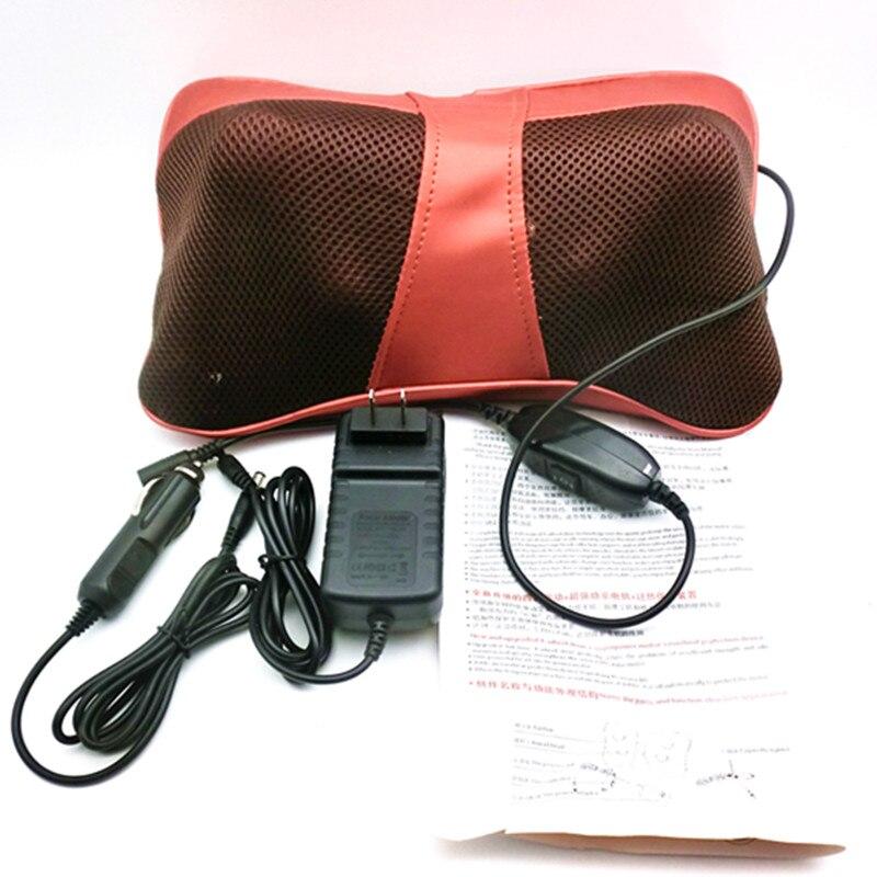 ФОТО Home Car Body Shoulder Neck Pain Relief Anti stress Shiatsu Massager Pillow Infrared Vibrating Massage Cushion Headrest