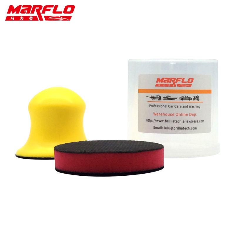 Marflo Car Wash Magic Clay Sponge Pad for Car Wash Maintenance Sponge Cloth Brush Applicator Cleaning Holder