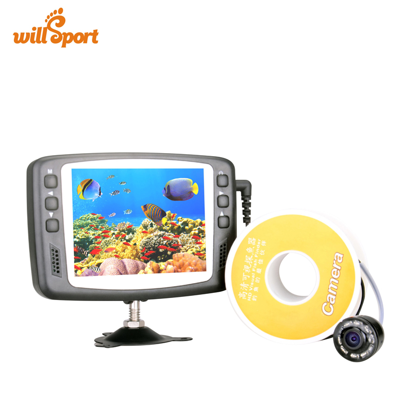 720P ICE Underwater Fishing Camera Video Fish Finder  3.5 inch LCD Monitor 15m Cable Night Vision Camera Эхолот для рыбалки