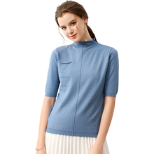 Hot Sale Turtleneck Women Knitted Sweaters New Fashion Casual Short Sleeve Wool Pullovers Autumn Lady Loose Cashmere Sweater