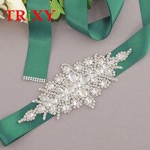 TRiXY S01 женские Стразы, пояс для свадебного платья, аксессуары для свадебного платья, свадебный пояс