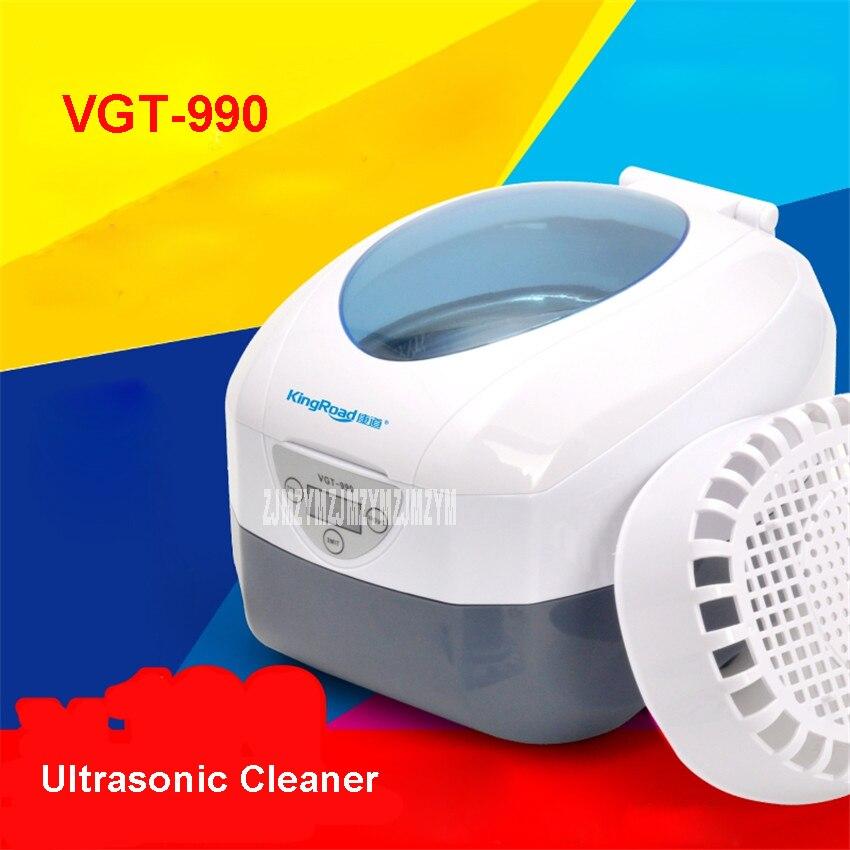VGT-990 Limpiador ultrasónico 50 W de potencia Limpiador ultrasónico joyas relojes limpieza circuito Limpiador ultrasónico 110 V/220 V