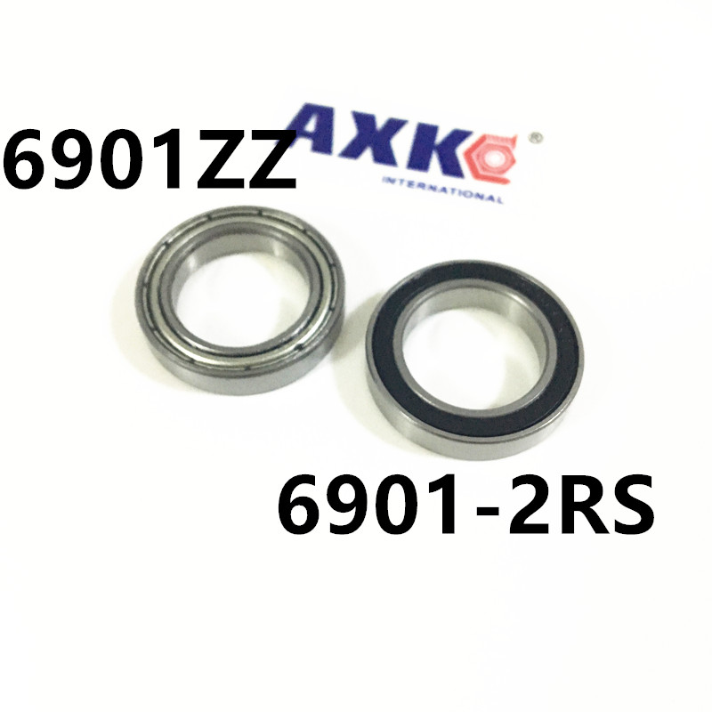6901ZZ Bearing ABEC-1 12x24x6 mm Metric Thin Section 6901 ZZ Ball Bearings 6901ZZ 6901-2RS 61901 12*24*6 mm free shipping 6901 61901 si3n4 full ceramic bearing ball bearing 12 24 6 mm