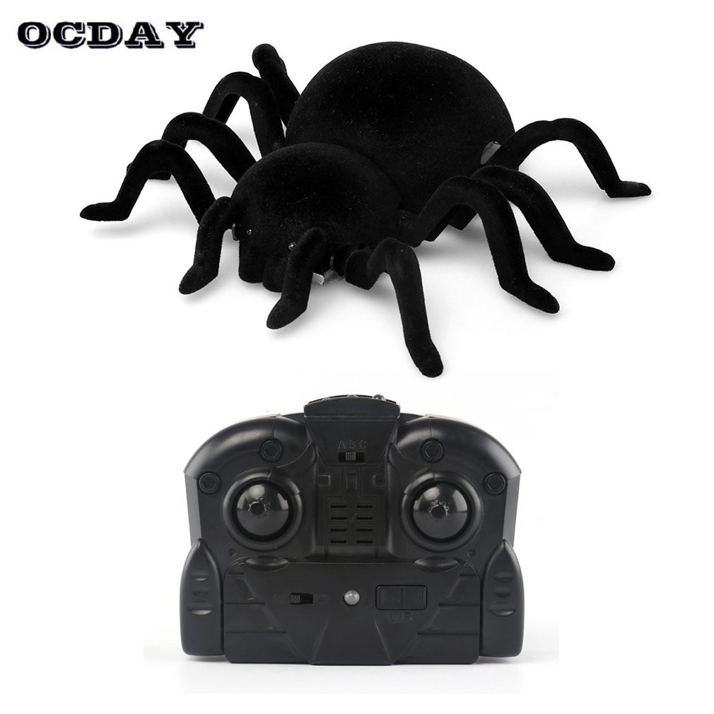Wall Climbing Spider Remote Control Toys Infrared RC Tarantula Kid Gift Animal Toy Simulation Furry Electronic Spider Kids Boys
