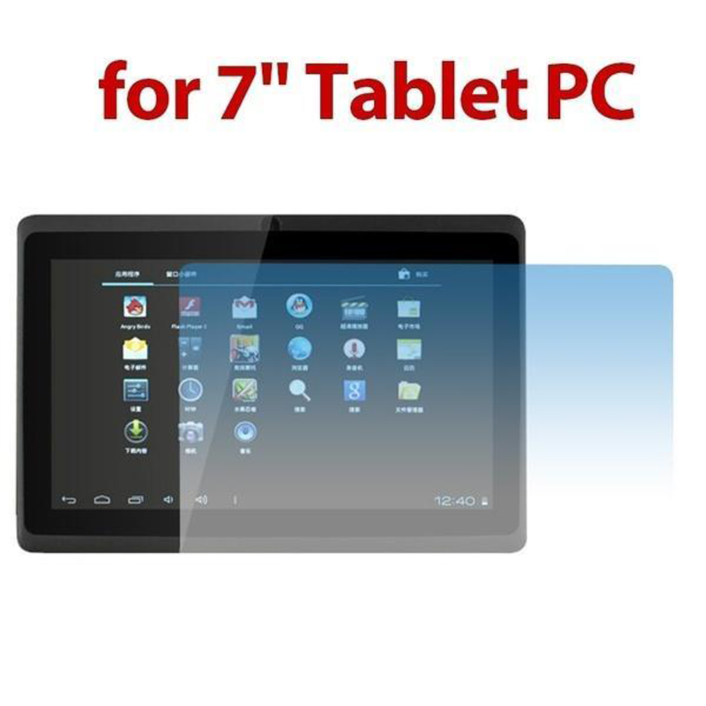 """Universal 7"""" inch Screen Glass Protectors for tablet clear LCD screen guard shield film protector tablet pc mid pad"""