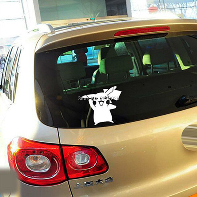 10 x newest car styling lovely cartoon animal pikachu pokemon car sticker decals for toyota peugeot