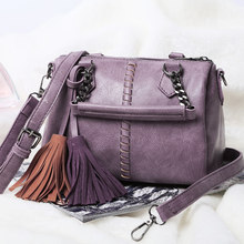Knitting Japan Korean Style Women Light Purple Shoulder Bag Stylish Designer Tassels font b Handbag b