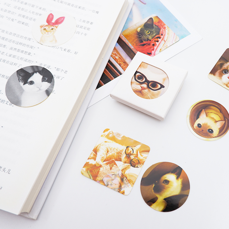 38 pcs box Cat paper sticker DIY decoration stickers of craft diary scrapbooking planner label sticker in Stickers from Home Garden