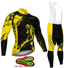 X CQREG Brand Anti UV Cycling Jersey Set Breathable Long Sleeve Bike Cycling Clothing Mountain Bicycle Wear Cycling Clothes Set