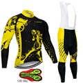 X-CQREG marca Anti-UV Conjunto de Jersey de Ciclismo de manga larga transpirable ropa de ciclismo de montaña ropa de ciclismo conjunto de ropa de ciclismo