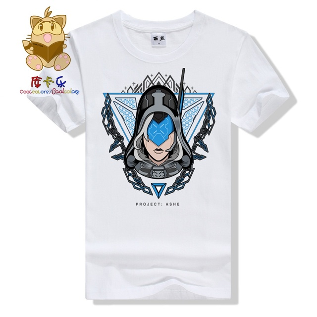 Cool game fans tee shirt LOL t shirt Project series Project Ashe t shirt hot gamer colorful cotton t shirt ac325