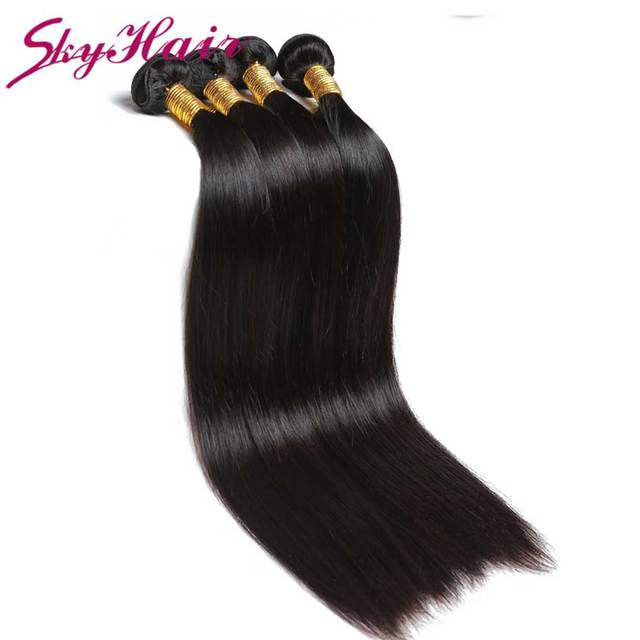 7A 4pcs Straight Peruvian Virgin Hair 100g/pc Top Quality slik straight  Human Hair Sky Hair Products soft bundles