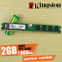 Kingston escritorio memoria 2 GB 2G 800 MHz PC2-6400 DDR2 PC RAM (Estrecho versión Kingston chip) 800, 6400 2G 240-pin KVR800D2N6/2G(China)
