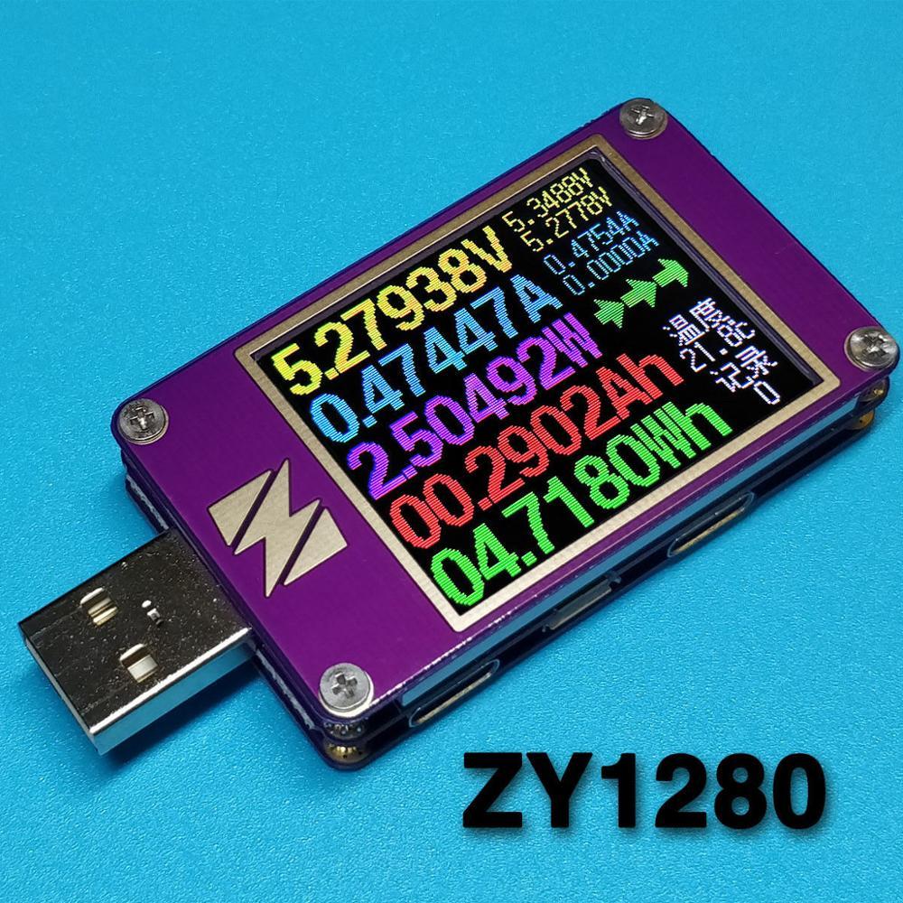 Dykb USB tester akım gerilim kapasitesi güç ölçer hızlı şarj protokolü pil şarj dedektörü QC4 + PD3.0 2.0PPS LCD