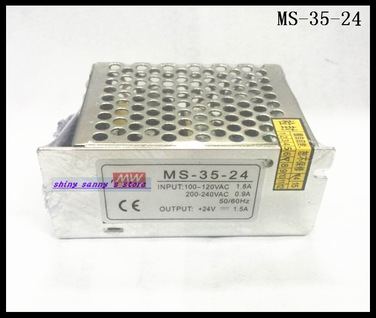 1Pcs MS-35-24 35W <font><b>24V</b></font> <font><b>1.5A</b></font> <font><b>AC</b></font> to <font><b>DC</b></font> Converter Small Volume Single Output Switching Power Supply Brand New image