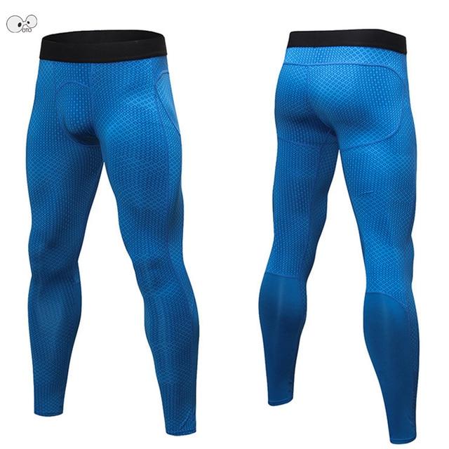 3D Rhombus impreso pantalones Mens PRO Compression Tights Dry Fit transpirable  fitness gimnasio entrenamiento deportivo Running 434fd3e68babc