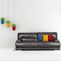 Leather sofa American style living room apartment model room sofa European furniture corner combination FC0075