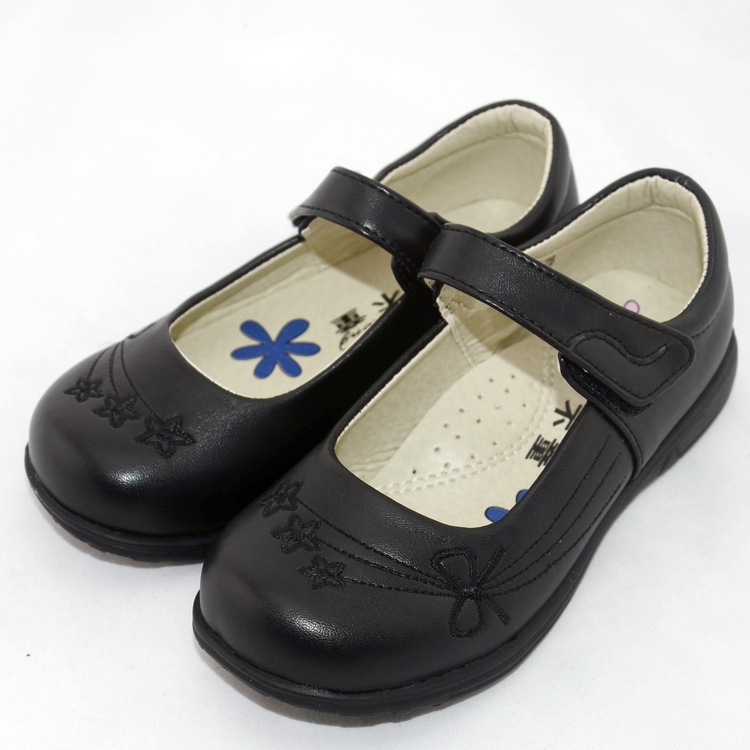 2015 school shoes girls black leather flat children loafers kids - Hello Club Online Store store